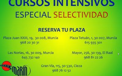 CURSOS INTENSIVOS ESPECIAL SELECTIVIDAD